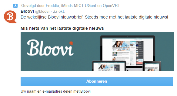 Opt-in Bloovi Twitter
