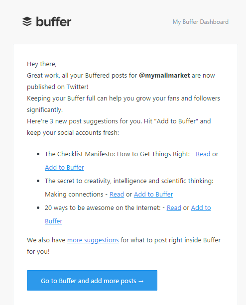 Email automation Buffer