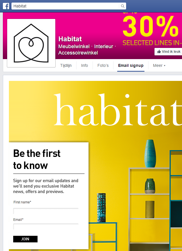Opt-in Facebook Habitat