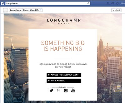 Facebookteaser Longchamp